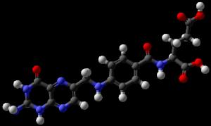 葉酸の分子モデル
